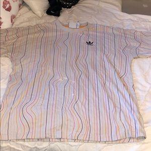 Vintage adidas striped tee